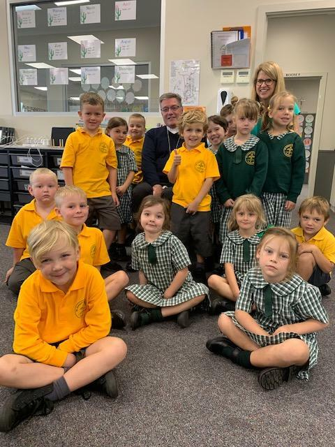 Bishop with Foundation students 2021